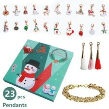 Christmas Advent Calendars Countdown Calendar Bracelet 24 Days DIY Charms Set