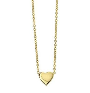 14ct Gold-Plated 925 Sterling Silver Heart Pendant Necklace (Design 3)