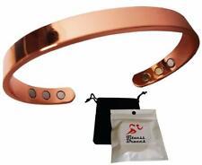 Copper Magnetic Bracelet Golf Arthritis Pain Relief MEN WOMEN Cuff w/FREE Pouch