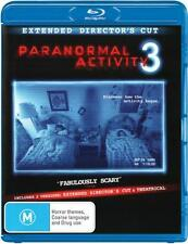 Paranormal Activity 3 (Extended Director's Cut)  - BLU-RAY - NEW Region B