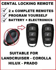 2x REMOTE KEYLESS FOB SUITABLE for TOYOTA PRADO LANDCRUISER HILUX COROLLA