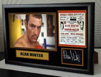 "ALAN MINTER  Canvas Tribute Print Signed ""Great Gift & Souvenir"""