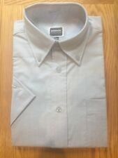 Ensemble Mens Oxford Shirt Short Sleeves Sky Blue Office Formal Size 15 collar