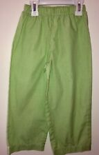 Boy Boutique Gingham Green White checkered Elastic Waist Pants 4t