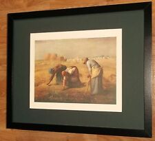 The gleaners by Jean-Francois Millet, millet print, 20''x16'' frame, athena 1977