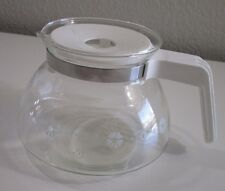 GEMCO Glass Coffee Pot Carafe White 10 Cup Fits Bunn-Norelco-Mr Coffee-Universal