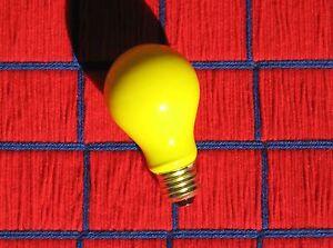 BOXof 12 new BUG yellow 60w LONG LIFE 130v LIGHT BULB 60 WATT incandescent A19