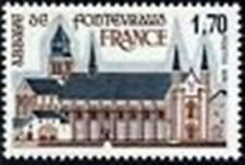"""FRANCE STAMP TIMBRE N° 2002 """" ABBAYE DE FONTEVRAUD """" NEUF xx LUXE"""
