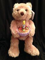 """Gund Singing Birthday Bear Candle Plush Stuffed Soft Cuddly Animated 17"""" NWT"""