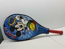 Slam it Mickey Mouse Dunlop tennis racquet racket cover Disney blue case