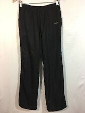 Reebok Sweatpants Womens XS Drawstring Mesh Lined Jogging Pockets Athletic Black