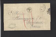 "SAN FRANCISCO, CALIFORNIA,1878 STAMPLESS,TRANSATLANTIC TO ""FRANCE"" BACKSTAMPS"