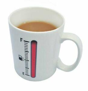 2 X Gauge Novelty Temperature Tea Coffee Mug