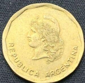 Argentina 1985    50 Centavos AU    Brass Coin    #K627