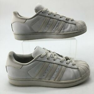 Adidas Womens 7 Originals Superstar Athleisure Sneakers White Leather S85139