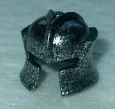 HEADGEAR Lego Helmet Cheek Protection Angled  Speckle Black-Silver NEW Castle