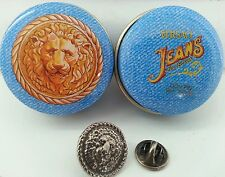 Versace Jeans Collection metal Lion head Tie Pin in presentation tin