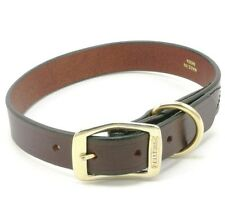 "PELLEDURA Creased Leather Dog Collar, 26"" x 1"", Burgundy"