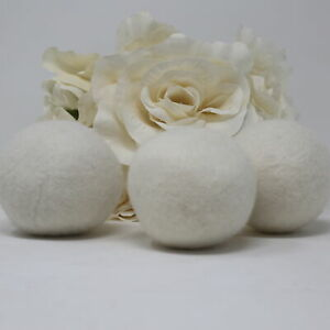Organic Handmade EXTRA LARGE New Zealand Wool Dryer Balls Natural Sets