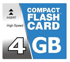 4 GB Tarjeta de memoria CF para Sony Alpha A100 Compact Flash Mapa