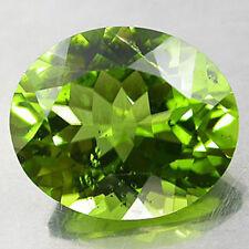 9x7mm Oval facettiert stark grün Natürlicher Afghanischer Peridot Edelstein