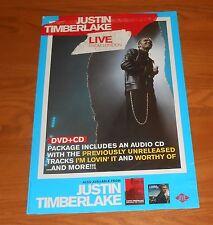 Justin Timberlake Live From London Poster Original Promo 18x12