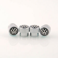 NEW VW Volkswagen Valve Stem Caps Genuine OEM Set of 4 Black Logo