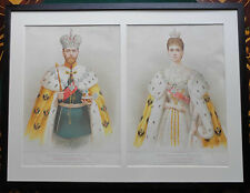 Tsar Nicholas II Empress Alexandra Romanov Coronation Double Portrait 1896