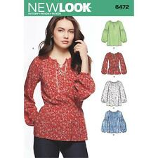 NEW LOOK SEWING PATTERN MISSES' BOHO BLOUSE SIZE 8 - 20 6472