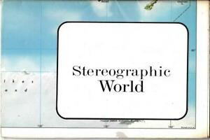 Vintage Hammond Stereographic World Map 1980's