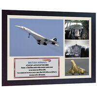 Concorde British Airways Passenger Jet aviation flying Memorabilia photo FRAMED