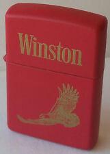 Zippo Lighter Winston Tobacco Red Prototype RARE RJR CAMEL NEW 1996 IN BOX MNT