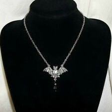 Gothic Bat Wings Pendant Necklace Dark Style Choker Bat Jewelry Gift