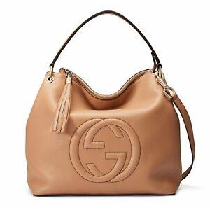 Gucci Women's Camelia Leather Large Soho Hobo Bag