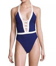 Lauren Ralph Lauren Lattice Halter One Piece Swimsuit Size 10