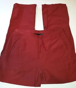 EMS Eastern Mountain Sports Cargo Roll Up Hiking Pants Red S Athleisure Outdoor