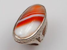 antik Edler orient silberring achat  Afghanistan  silver agate ring Nr:53