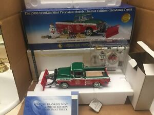 FRANKLIN MINT 1:24 2003 CHRISTMAS LIMITED EDITION 1955 PLOW TRUCK MINT IN BOX