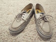 Sperry top sider women off white glittered size 9 M