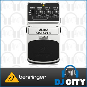 Behringer UO300 Ultra Octaver Bass Electric Guitar Effects Pedal Stompbox