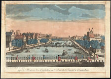 Antique Optical Print-AMSTERDAM-AMSTEL-SLUICE-ORPHANAGE-NETHERLANDS-Daumont-1770