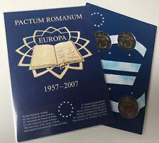 5 x 2  Euro Deutschland 2007 römische Verträge - im Folder Leuchtturm