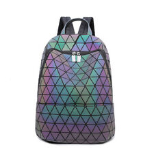 Women's New Luminous Backpack Travel PVC Handbag Rucksack Shoulder School Bag
