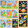 Arts Craft Early Educational EVA Foam  3D Mosaics Puzzle  Stickers drawing toys