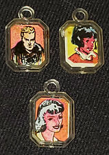 1950's - GUM BALL - VENDING MACHINE - CHARACTER - TOY CHARMS (3) - ORIGINAL