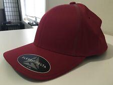ADIDAS MEN'S ORIGINAL TAYLOR MADE CLARET RED CAP HAT FLEX FIT DELTA S/M LOGO