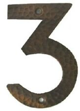 #3  Hammered copper house number. Craftsman/ Arts and Crafts. 6 inch high