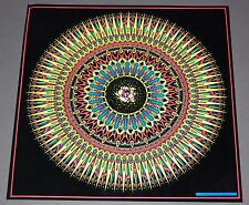 ROSE Psychedelic Optical Illusion Flocked Blacklight Poster 1977 Pro Arts 18-718