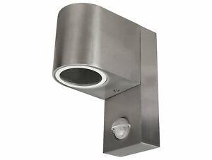 Outdoor Light Sensor Light IP44 Stainless Steel - Outdoor Wall GU10 230V