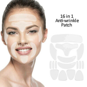 16 Pcs Reusable Silicone Anti-Wrinkle Pad Patches For Face Eye Forehead Lifting
